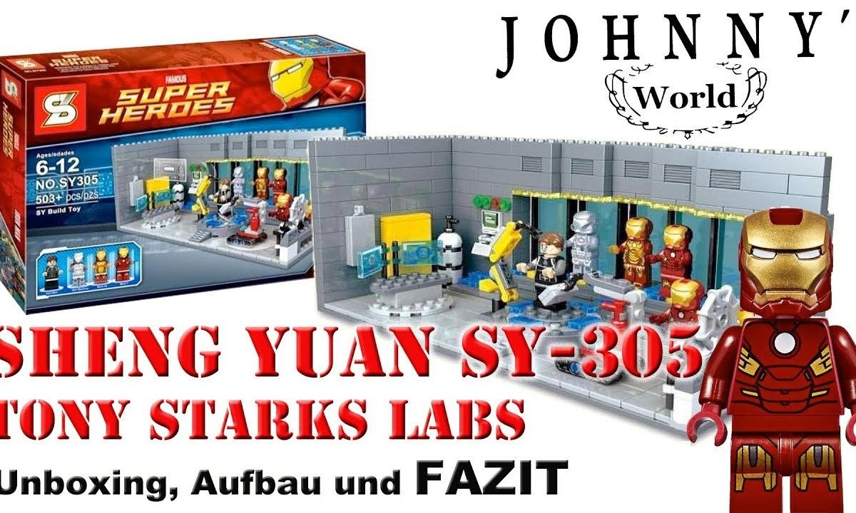 Sheng Yuan Sy305 Tony Starks Lab Ironman Laboratory Unboxin